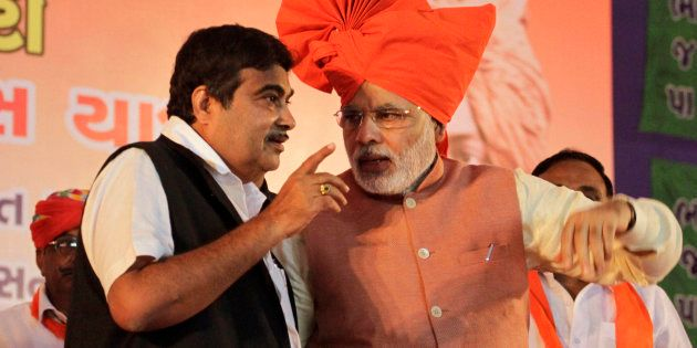 File photo of Nitin Gadkari (L) and PM Narendra