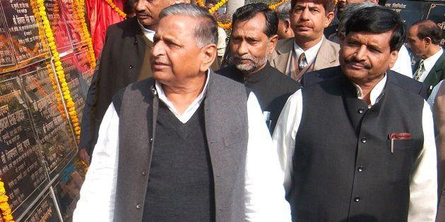 File photo of Mulayam Singh Yadav with Shivpal Singh