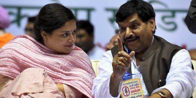 File photo of Shivpal Yadav (L) and MP Poonamben