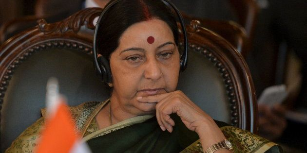 File photo of Indian external affairs minister Sushma