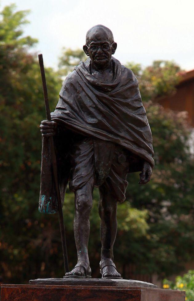 A statue of Mahtama Gandhi in Accra, Ghana, Thursday, Sept. 22,