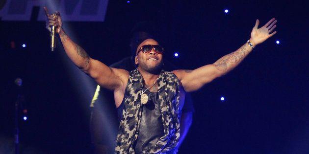 Flo Rida performs at KIIS FM's Jingle Ball concert in Los Angeles, California December 3,