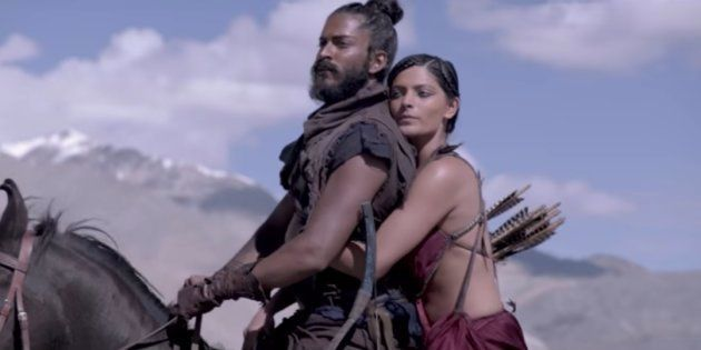 A still from 'Mirzya', featuring Harshvardhan Kapoor and Saiyami Kher.