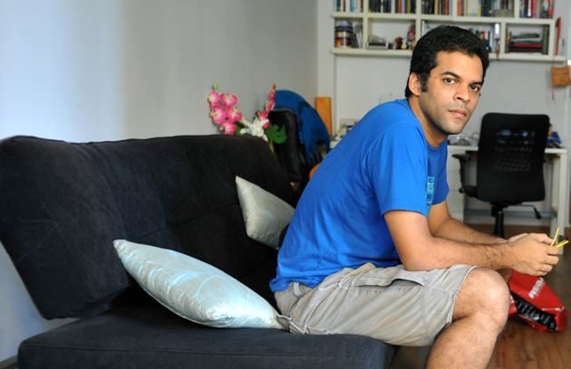Vikramaditya Motwane poses at his residence in