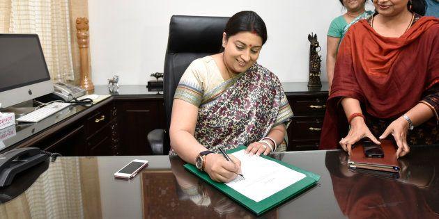 File photo of Union Textiles Minister Smriti