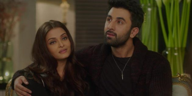 Aishwarya Rai Bachchan and Ranbir Kapoor in a still from 'Ae Dil Hai