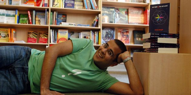 Author Chetan Bhagat at the release of his book One Night @ The Call Center.