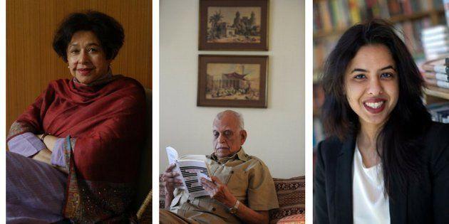 L-R: Bapsi Sidhwa, Jamil Ahmad and Saba