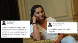Sania Mirza Returns Sanjay Manjrekar's Twitter Lob With A
