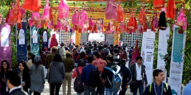 Jaipur Literature Festival.(Photo by Purushottam Diwakar/India Today Group/Getty