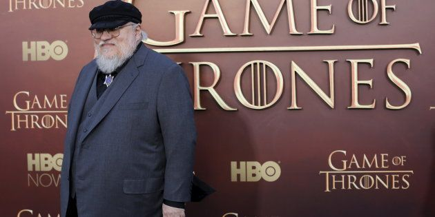 George R.R. Martin at the season premiere of HBO's