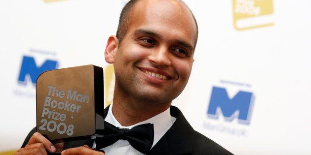Aravind Adiga with the 2008 Man Booker Prize. REUTERS/Alessia Pierdomenico