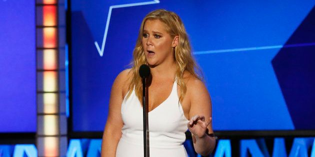 Amy Schumer accepts the award for Best Actress in a Comedy for