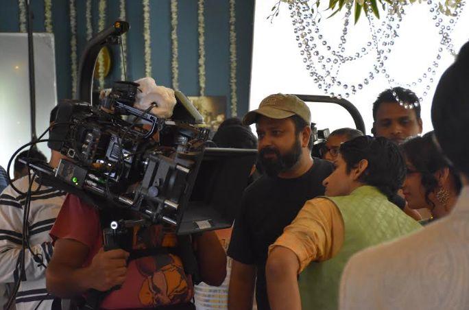 Filmmaker Nikkhil Advani on the sets of 'P.O.W. - Bandi Yuddh Ke'.