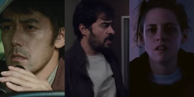 (L-R) Hiroshi Abe in 'After The Storm'; Shahab Hosseini in 'The Salesman'; and Kristen Stewart in 'Personal