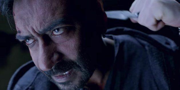 Ajay Devgn in a still from 'Shivaay'.