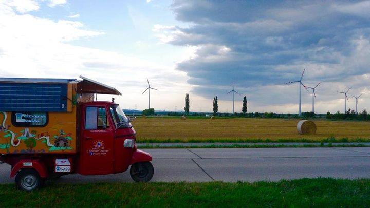 Rabelli's solar tuk-tuk in Austria.