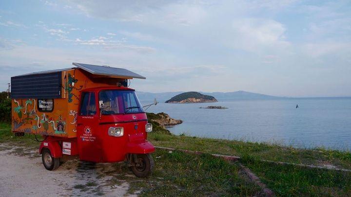 Rabelli's solar tuk-tuk in Greece.