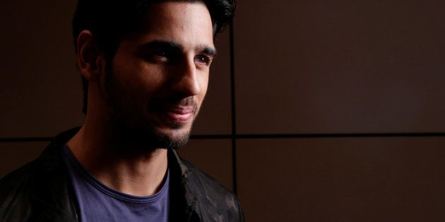 Bollywood film star Sidharth Malhotra poses for a portrait while promoting the