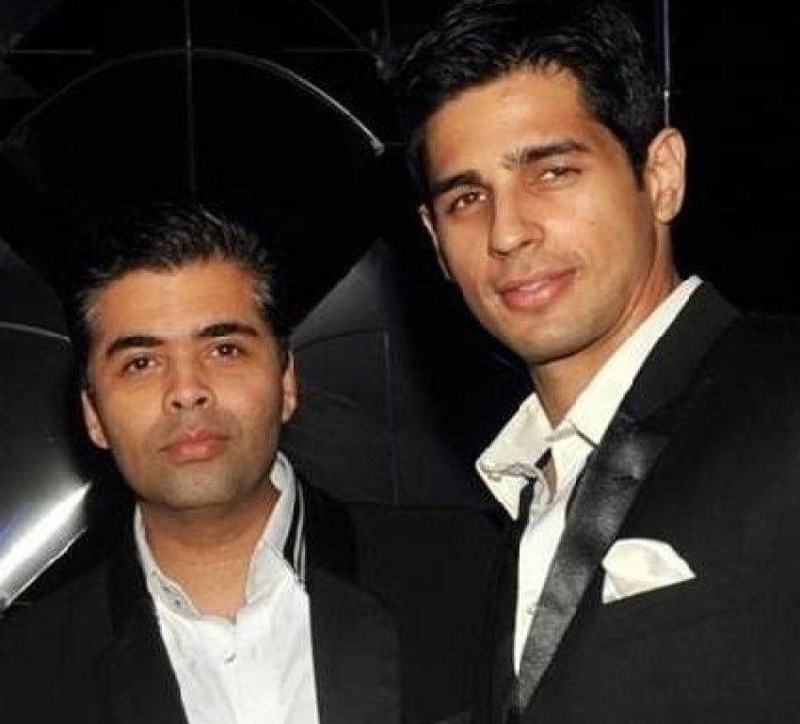 Dharma Productions head honcho Karan Johar with Sidharth