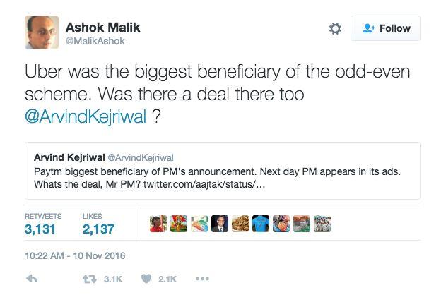 Paytm Chief Vijay Shekhar Had This Perfect Clapback To Arvind Kejriwal's