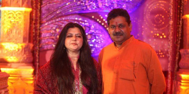 Kirti Azad, former Indian cricketer with his wife Poonam
