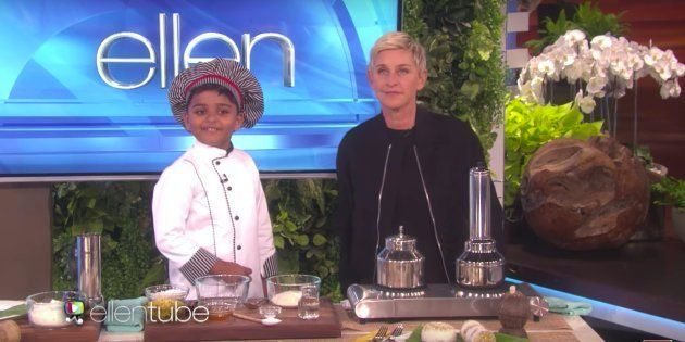 Meet 6-Year-Old Chef Kicha, The Youngest Indian To Appear On Ellen's