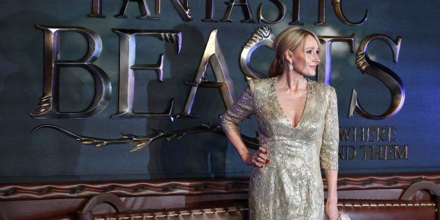 J.K. Rowling poses at the European premiere of the film 'Fantastic Beasts and Where to Find Them' in...