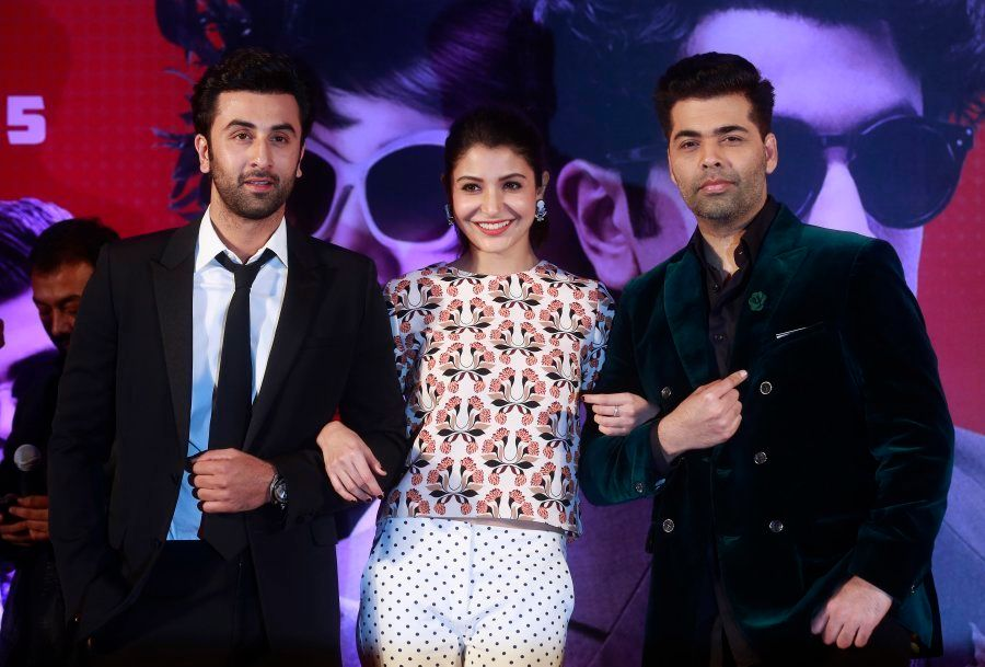 Ranbir Kapoor, Anushka Sharma, and Karan