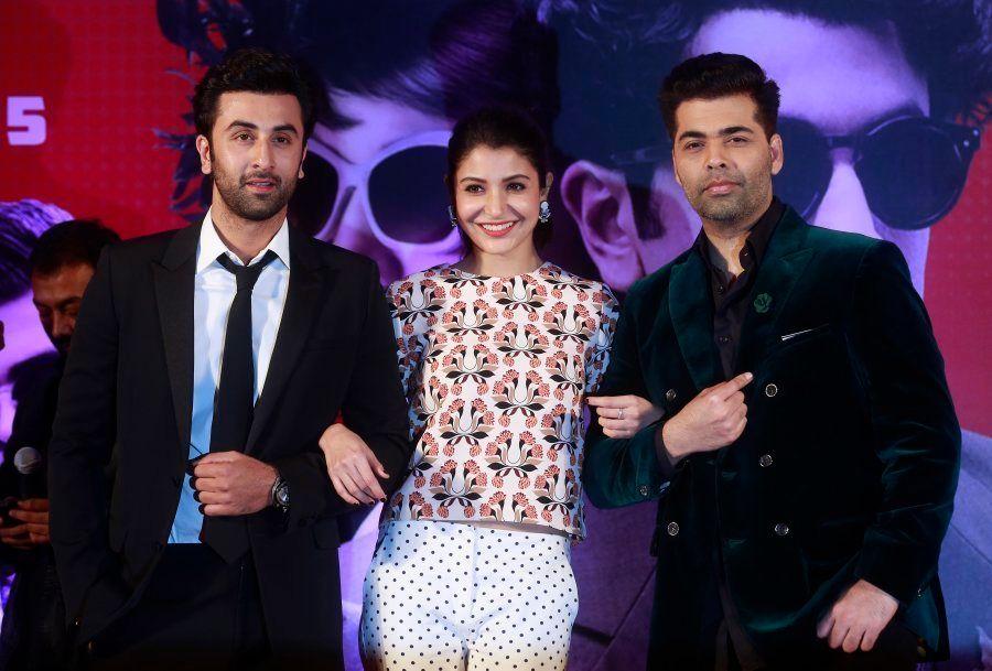Ranbir Kapoor, Anushka Sharma, and Karan Johar