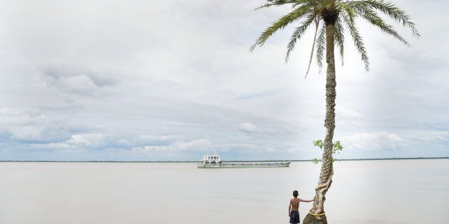 Ghoramara island, 150 km south of Kolkata, has lost 50 percent of its terrain to the rising seas as a...