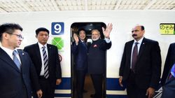 Narendra Modi Takes A Ride On Famed Shinkansen Bullet Train With Japanese PM Shinzo