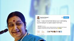 Sushma Swaraj's Heartwarming Response To Pakistani Girl Stuck In India Is Winning The