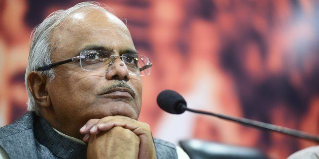 File photo of Vinay Sahasrabuddhe, Vice President of BJP, addressing a press conference on the recent...