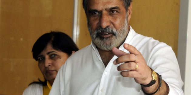 Former Union Minister of Commerce and Industry and Textiles and Congress leader Anand Sharma addresses...