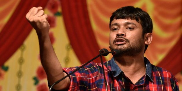 Kanhaiya Kumar speaks during a Joint Students Youth Assembly against discrimination and attacks on Universities,...