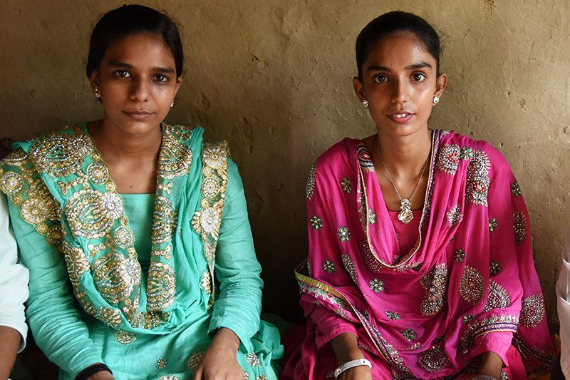 Saika Bano, 15. and Saleha Bibi, 16, are sisters, both studying in the 11th standard. Both are feisty speakers and both are amazing singers. The only big difference between the two of them is that one of them is married and the other is not.