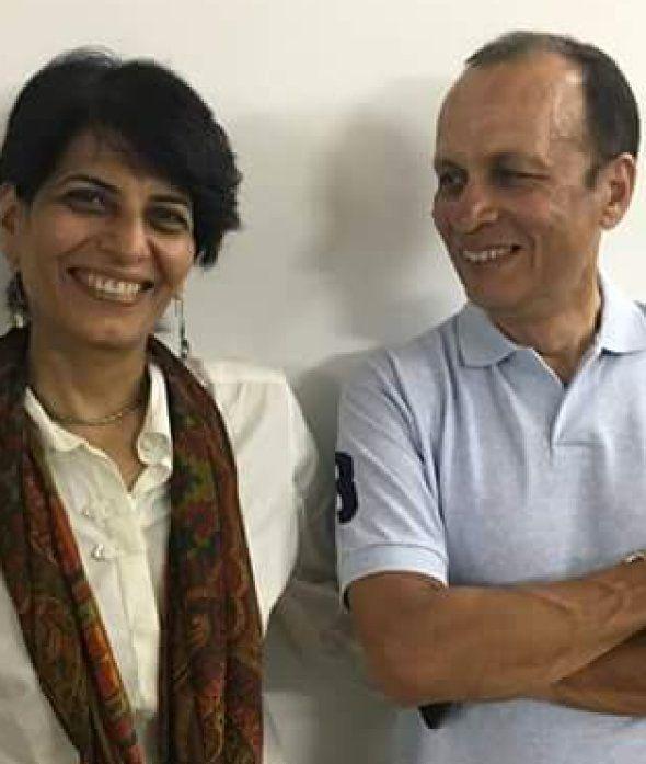 Gagan Khosla with wife Ishi