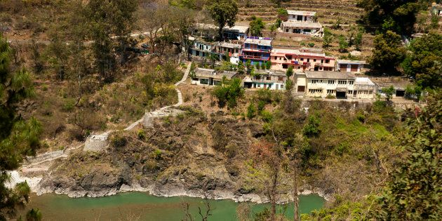 Village on the Kumaon hills, northern