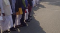 Opposition Forms Giant Human Chain Outside Parliament, Demands PM Modi's Presence In The