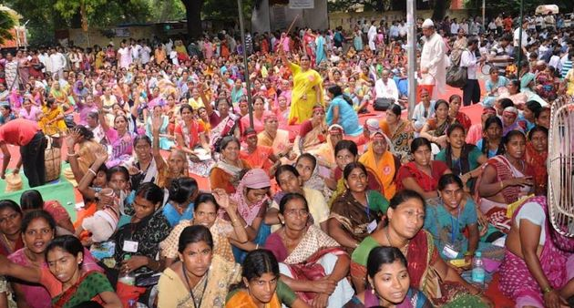 A protest rally of domestic