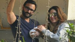 FIRST PICTURES: Saif Ali Khan And Kareena Kapoor Pose With Baby Taimur Ali Khan