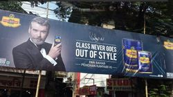 FYI, Pierce Brosnan's Pan Bahar Ad Has Been Banned From