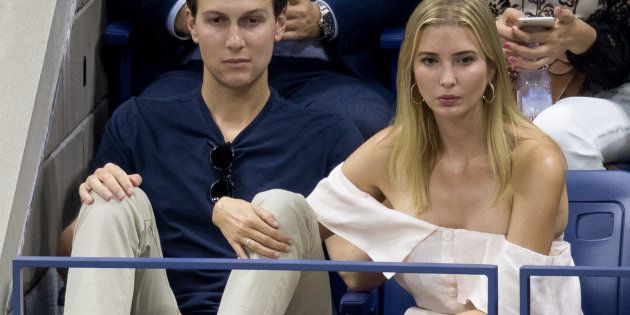 NEW YORK, NY - SEPTEMBER 11:  Jared Kushner and Ivanka Trump seen at USTA Billie Jean King National Tennis Center on September 11, 2016 in the Queens borough of New York City.  (Photo by Team GT/GC Images)