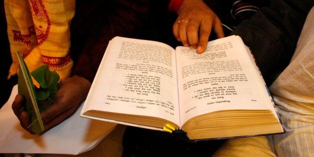 Gita Jayanti celebration. (Photo by: Godong/UIG via Getty