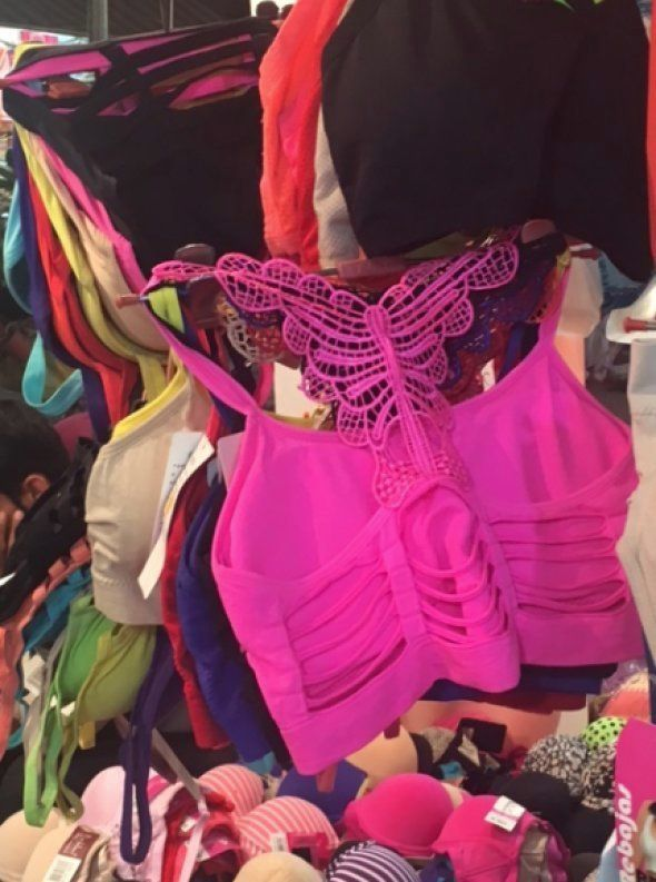 Colourful bralets that are all the trend at Sarojini nagar.