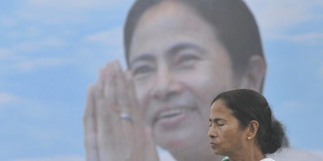 Mamata Banerjee Chief Minister of West Bengal addressing at the Singur Divas rally at Singur in West...