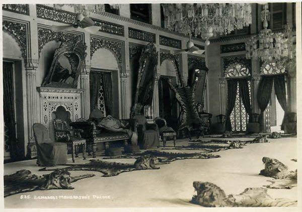 """""""Benares, Maharaja's Palace,"""" a professional photo, 1930's."""