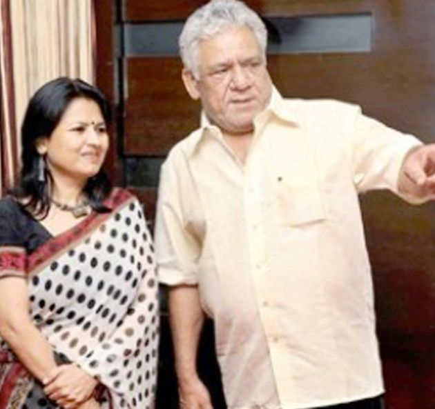 Om Puri with his first wife Seema
