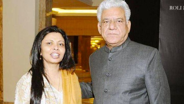 Om Puri with his second wife, Nandita Puri.